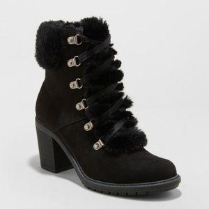Women's Larina Faux Fur Heeled Boots 9.5